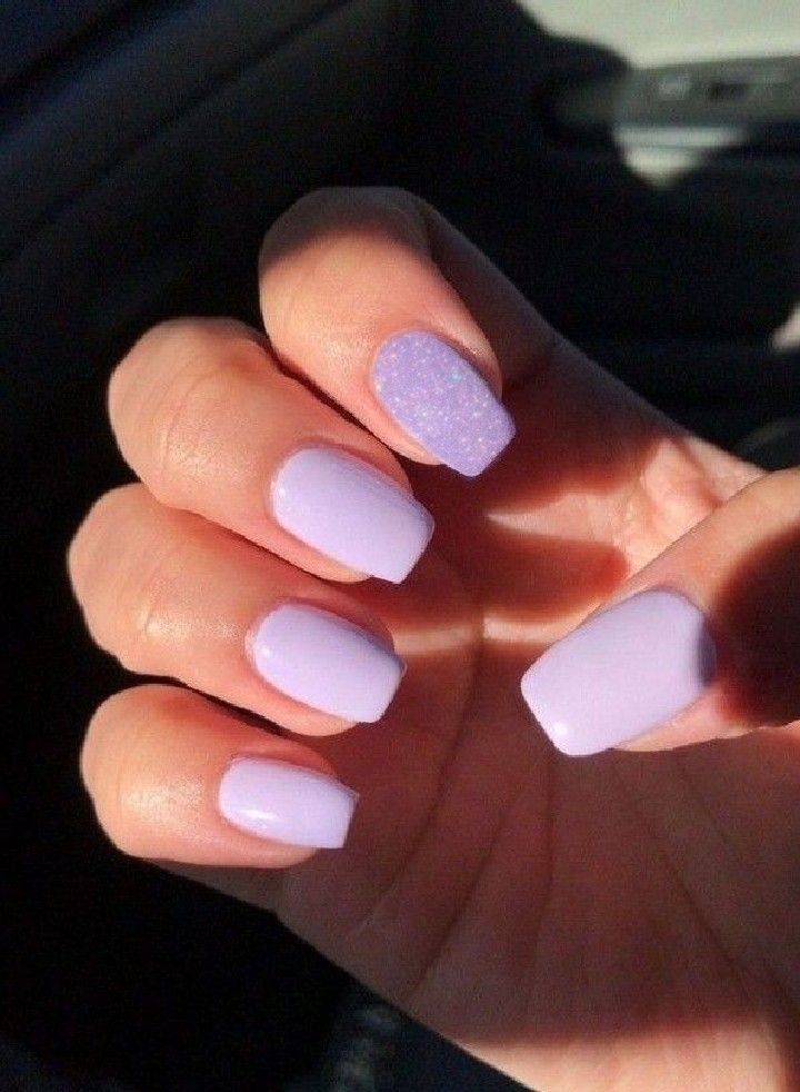 Purple Nails In 2020 Short Acrylic Nails Designs Short Acrylic Nails Purple Nails