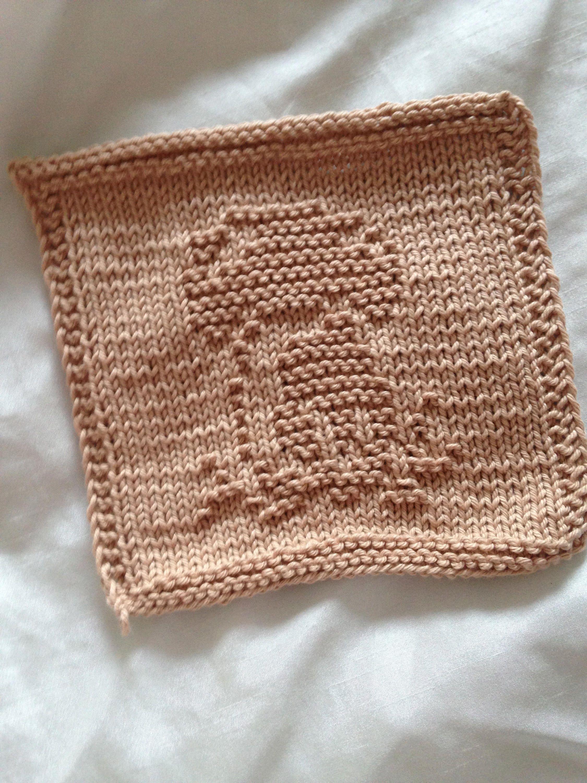 PATTERN - dishcloth / washcloth knitting pattern - mushroom by ...