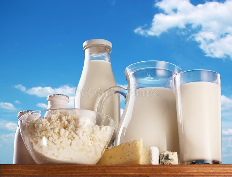 Dairy products. Dairy products on the sky background , #Sponsored ...