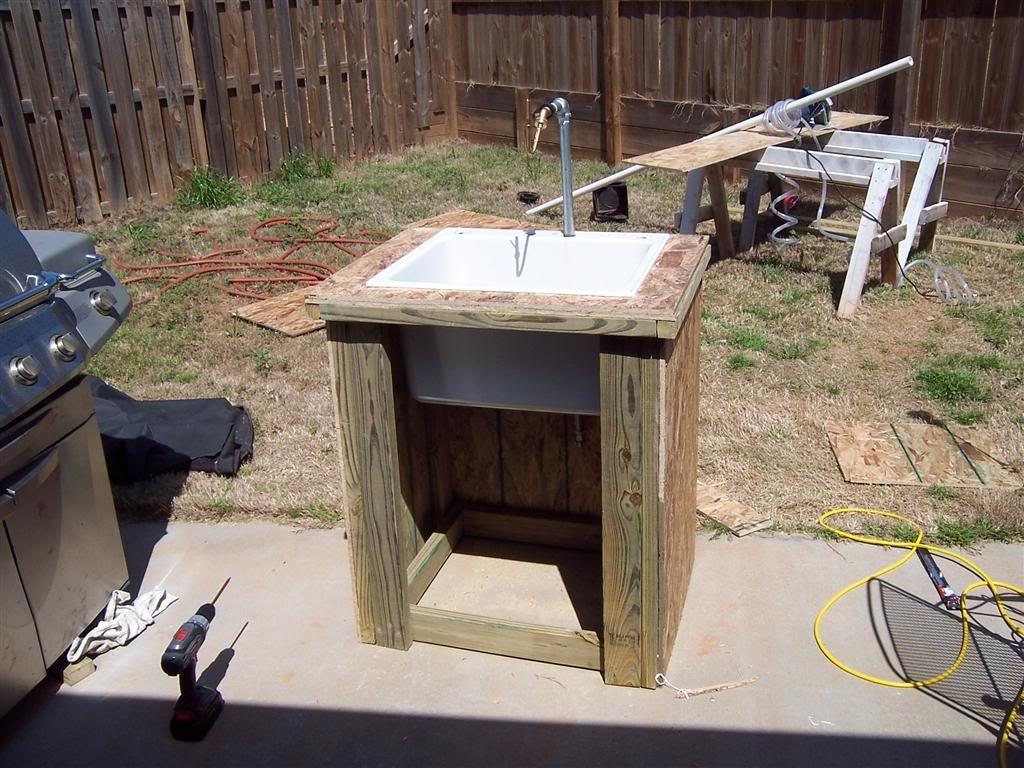 garden sink diy outdoor kitchen