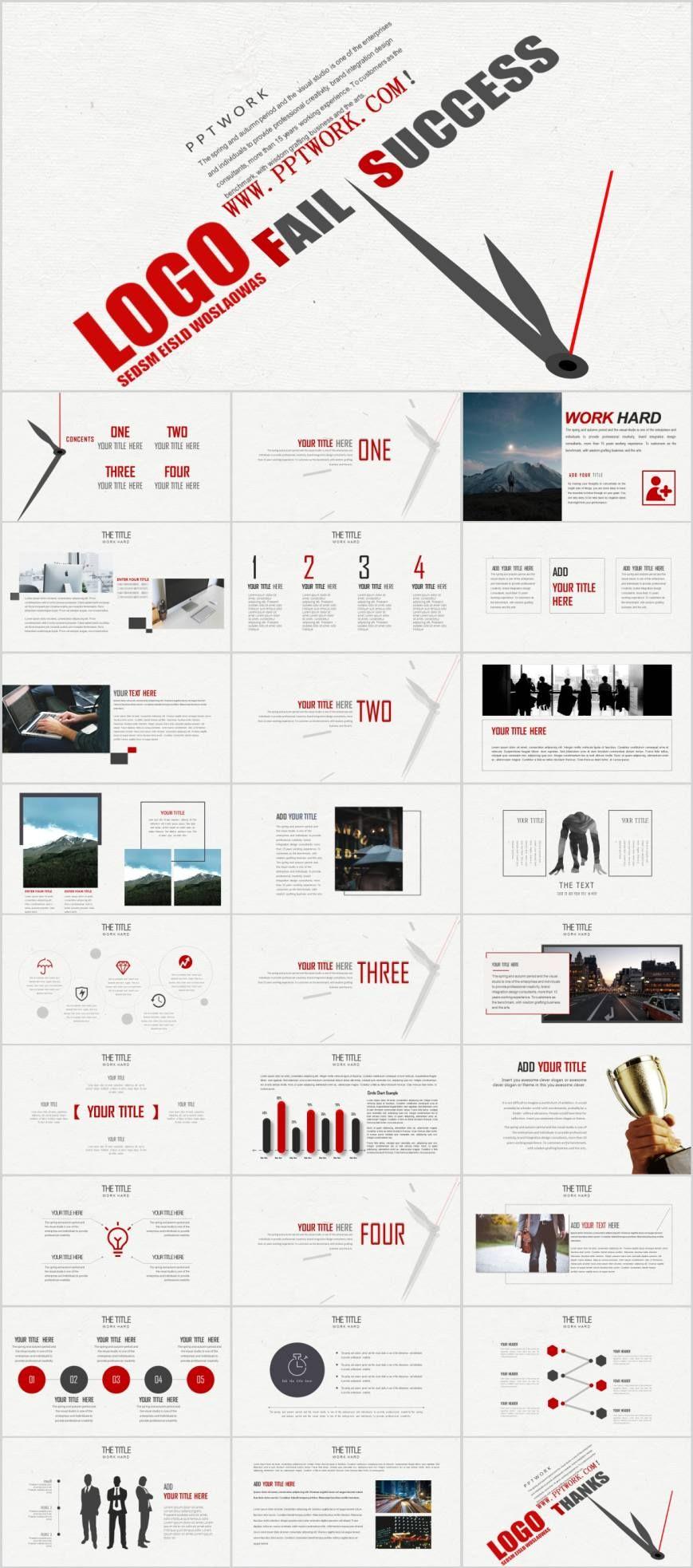 Business Success Analysis Newspaper Powerpoint Template Pcslide