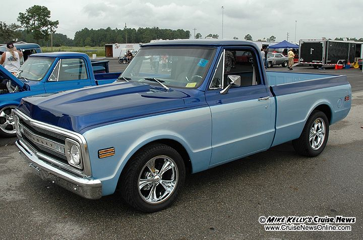 Blue Chevy Pickup Midnight Blue And Sandstone Blue Two Tone Paint