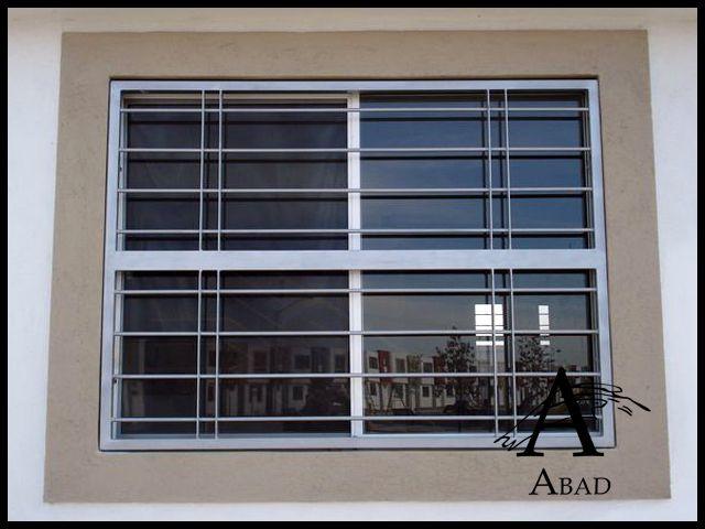 las rejas modernas de seguridad se fabrican con bastidor de ngulo y entramado sencillo pero macizo - Rejas Modernas