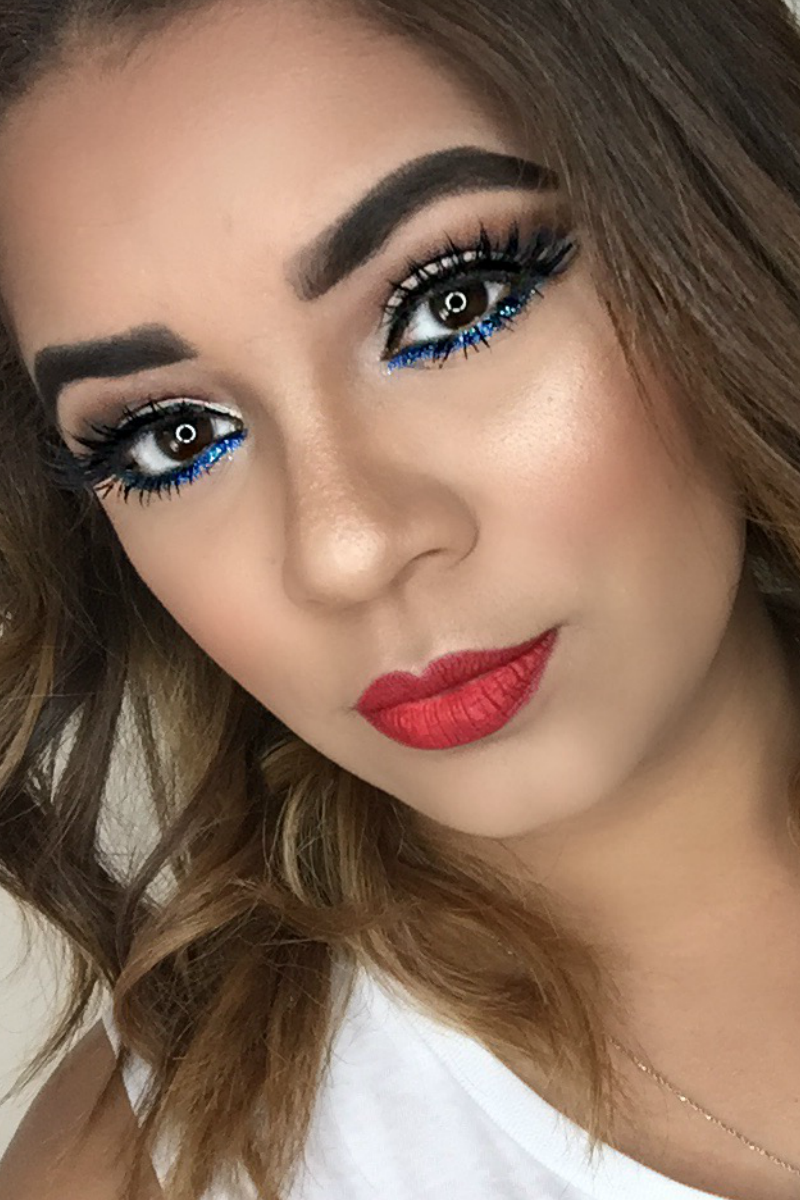 Beauty Mix Memorial Day Look Day makeup looks, 4th of
