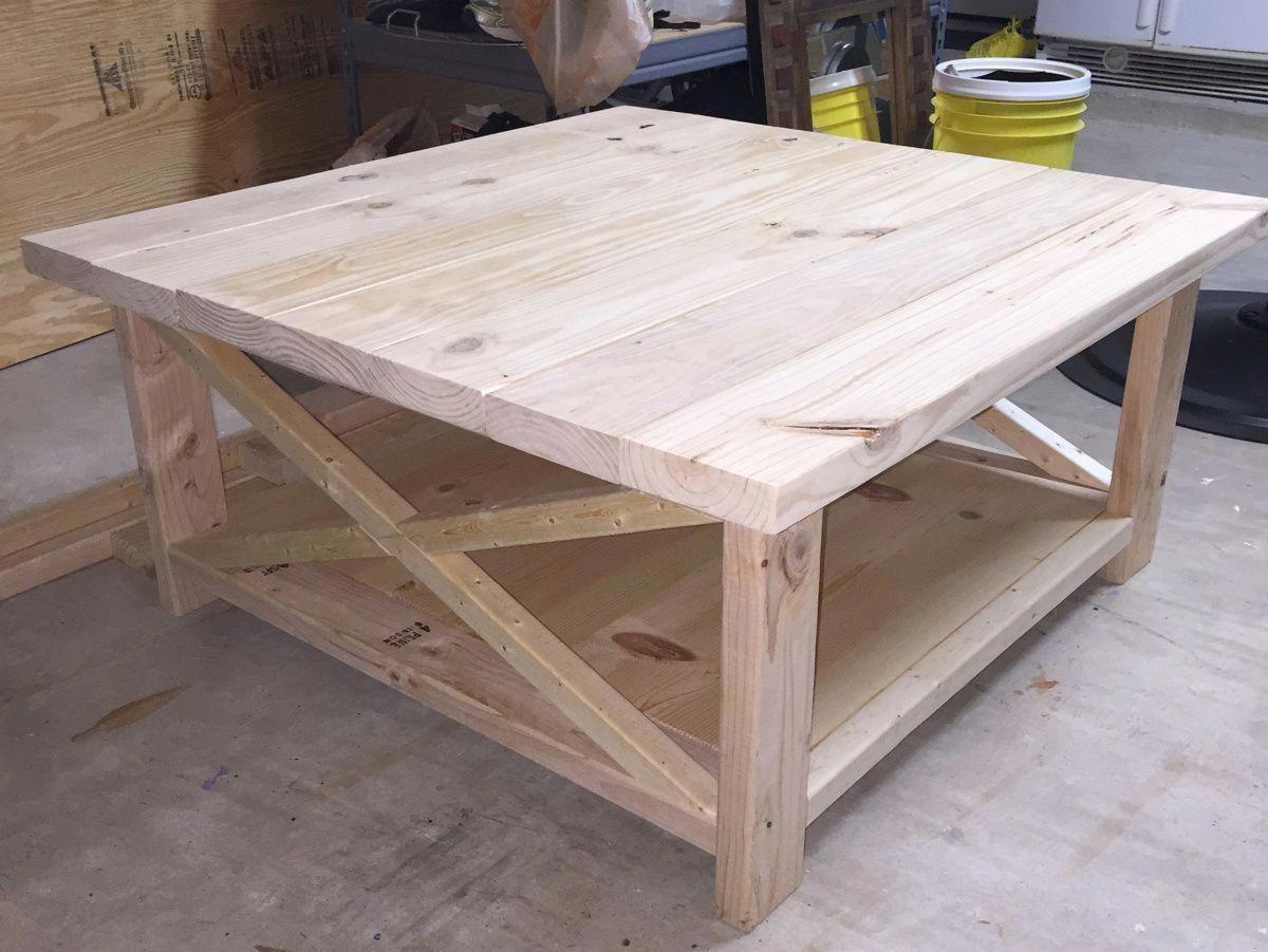 - DIY Rustic Coffee Table #rusticconstruction Diy Farmhouse Coffee