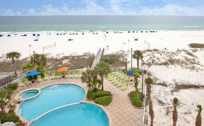 Holiday Inn Express Beachfront Hotel In Orange Beach Gulf Shores Al Alabama Beaches Gulf Shores Alabama Vacation Orange Beach Hotels