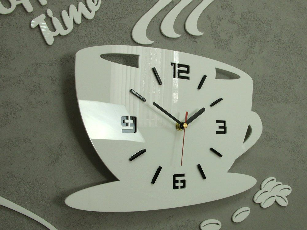 Clock To Kitchen Wall Clock Coffe Time Modern Clock Gift Wall Etsy Black Wall Clock Wall Clock Clock