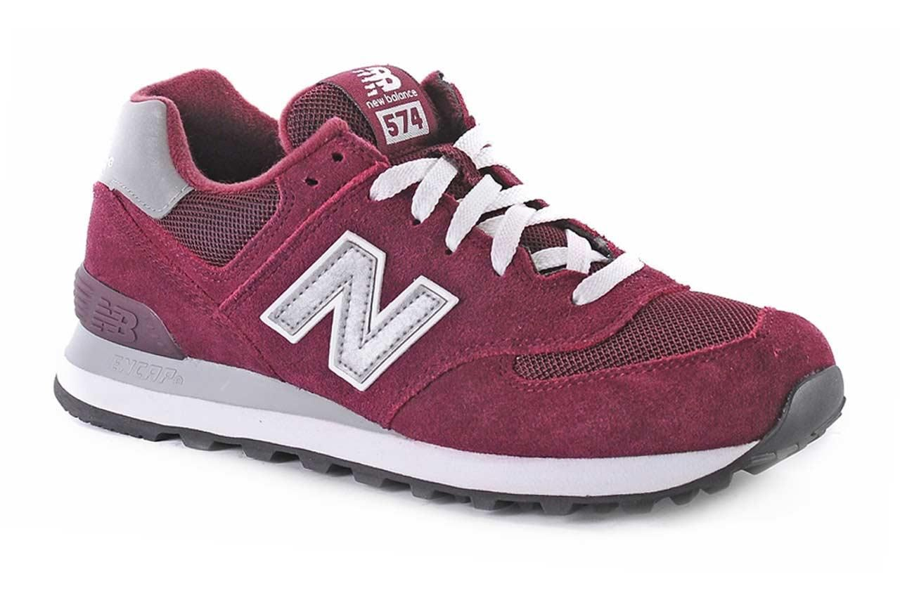 new balance 574 rouge bordeau