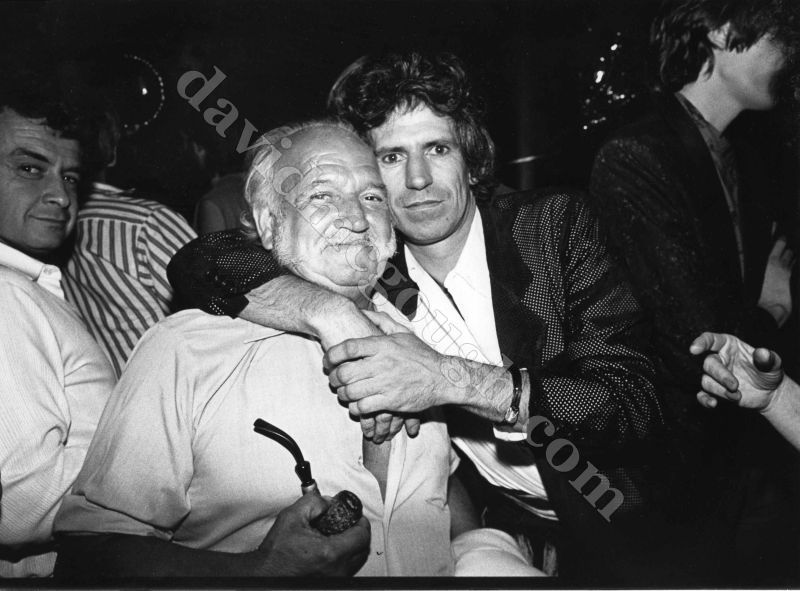 Keith Richards and 'dad' Bert Richards, 80s  The Rolling