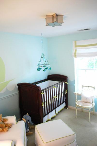 Blue Nursery Paint Colors, Transitional, nursery, Benjamin ...