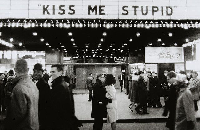 New Year S Eve Nyc 1965 Kiss Me Stupid Kiss Me Black And White Photography Photo