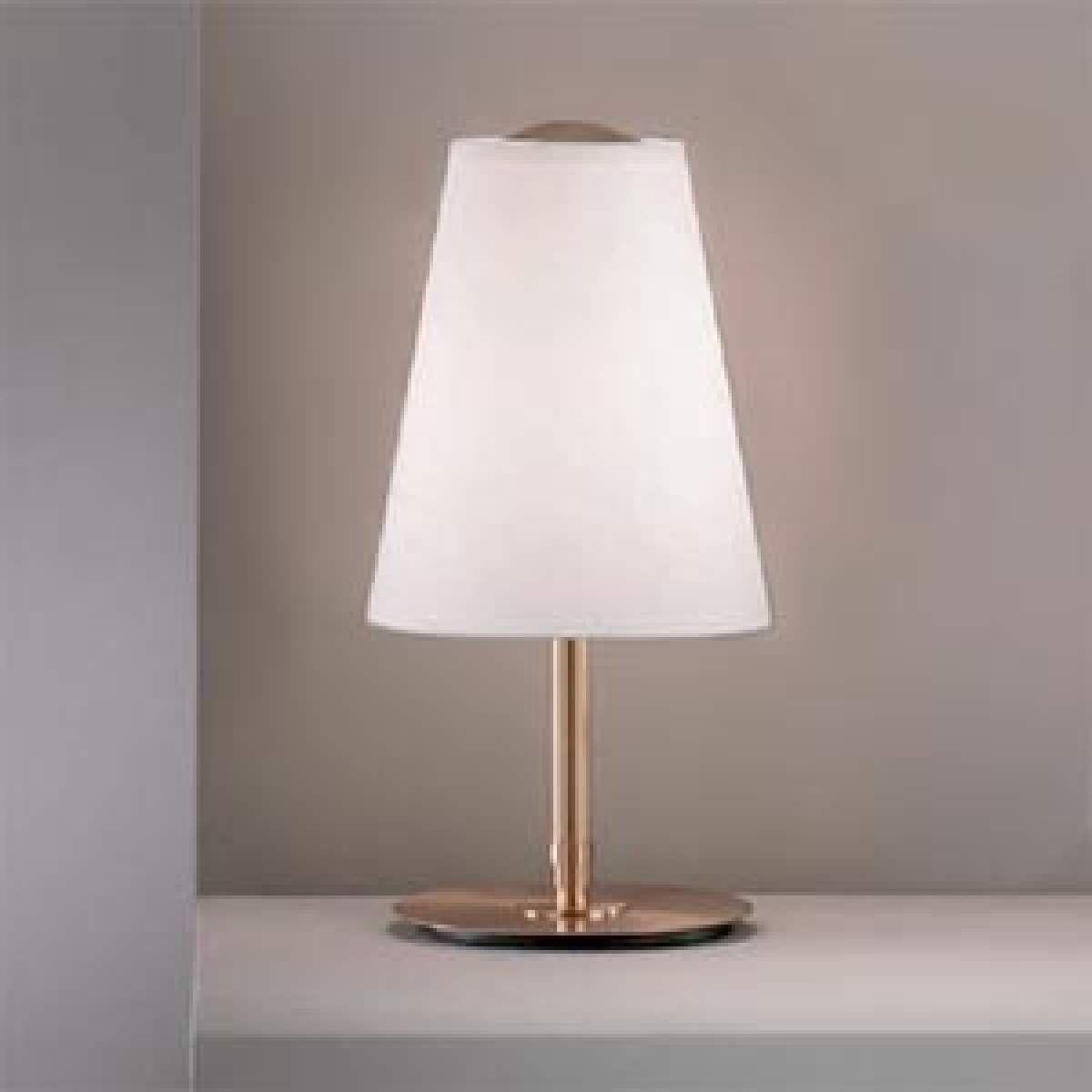 Tischleuchte Clemo Hohe 38 Cm Gold Von Pamalux Lampe Lampentisch Lampenschirm Weiss