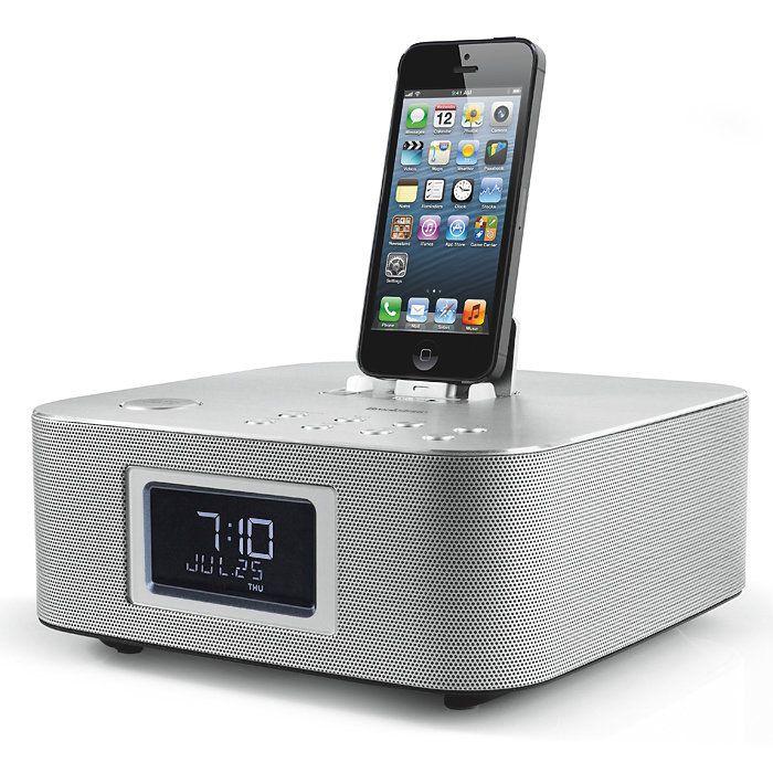 iPhone clock radio Iphone clock, Clock, Digital alarm clock