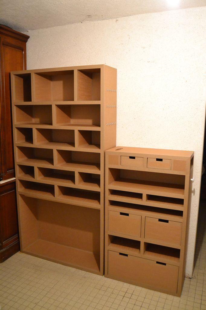 meubles de rangement de chaussures en carton ondul. Black Bedroom Furniture Sets. Home Design Ideas