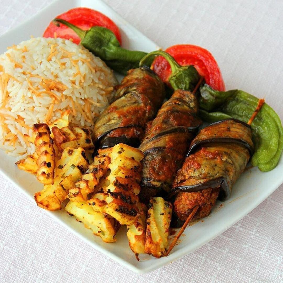 Sarmal Patlıcanlı Şiş Kebap Tarifi – Ana Yemek Tarifleri