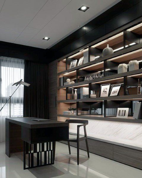 Top 70 Best Modern Home Office Design Ideas - Cont