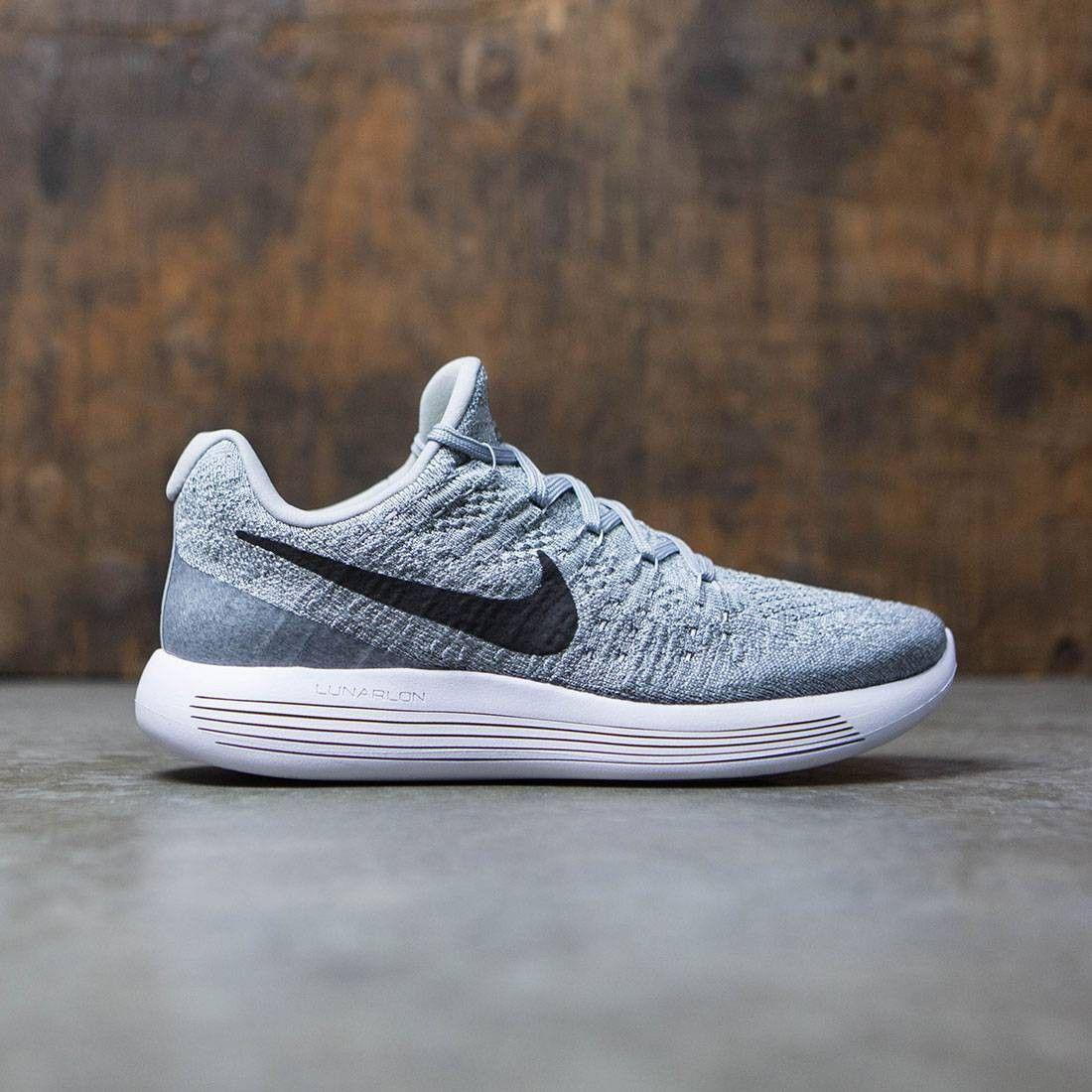 Nike Women Lunarepic Low Flyknit 2 Running Wolf Grey Black Cool Grey Pure Platinum Nike Nike Men Nike Women