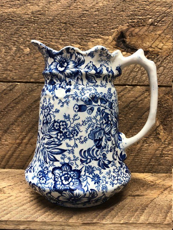 Vintage james kent old foley staffordshire china pitcher for Arredamento made in china