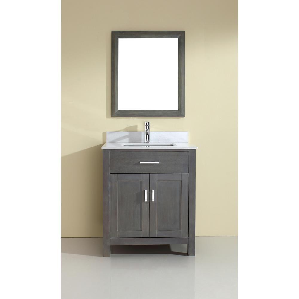 Art Kelia 30 Inch Bathroom Vanity French Gray Finish House