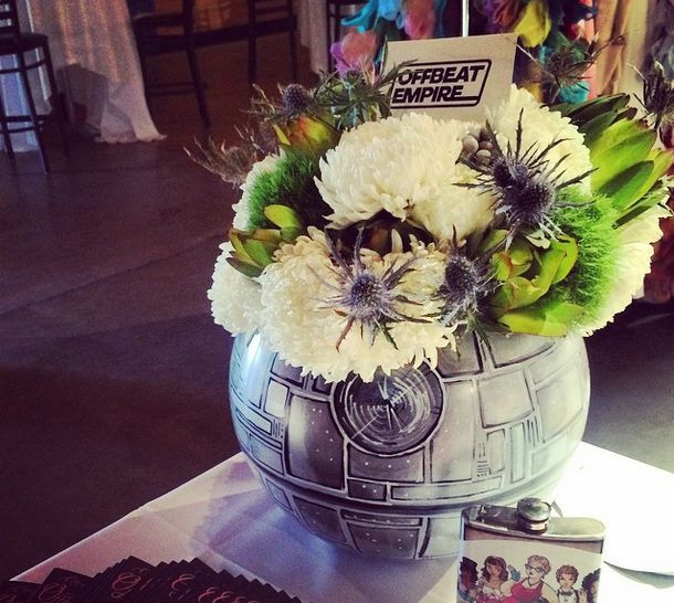 Yes Thats A Deathstar Floral Centerpiece Star Wars Wedding Geek