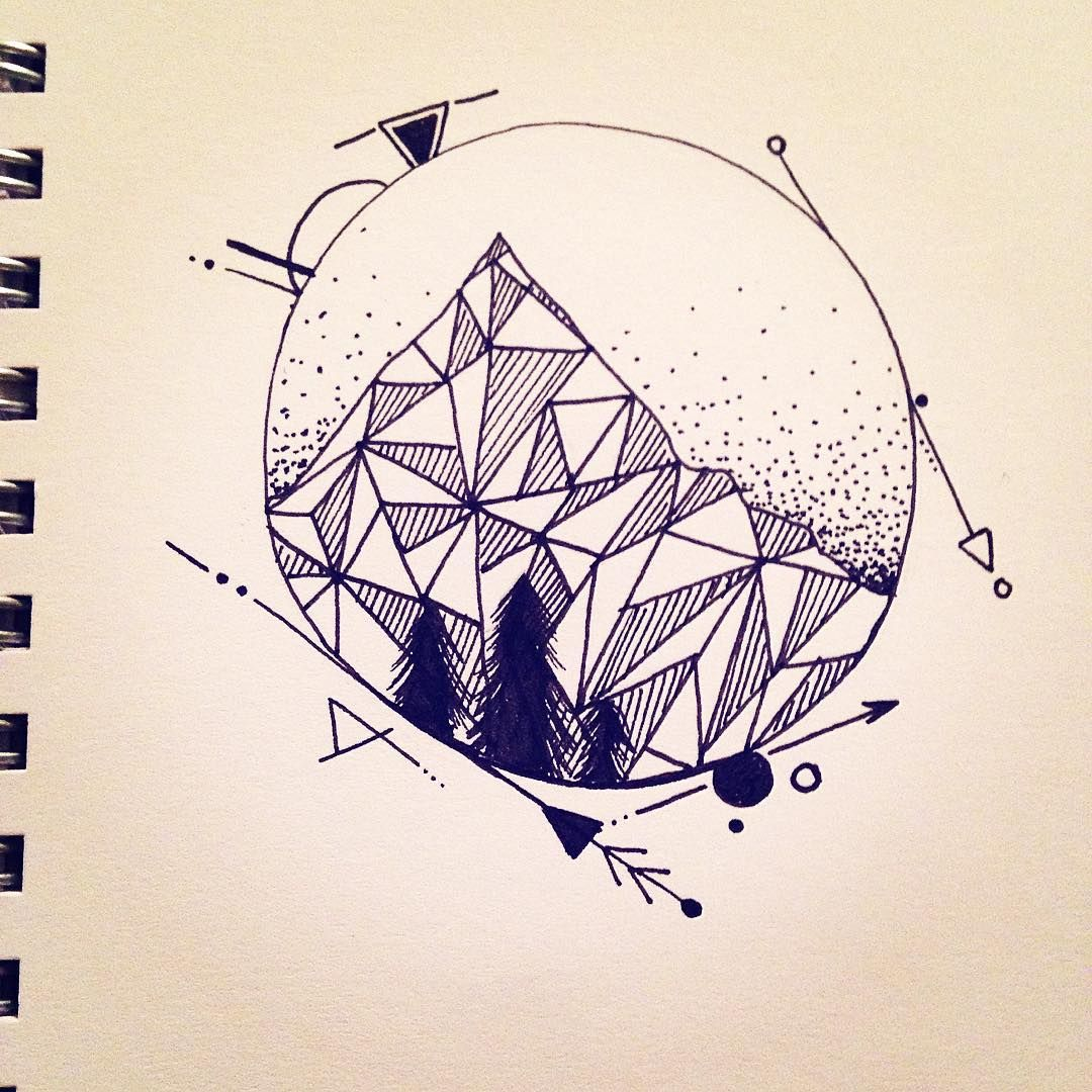how to make a geometric mountain