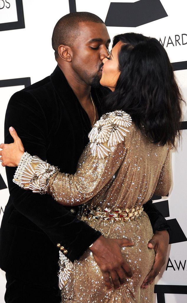 Kanye West And Kim Kardashian Get Grabby During Pda Filled Grammys