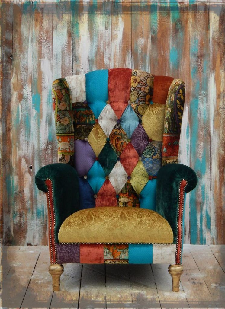 11 Types Of Accents Chairs For Living Room 107 Photo Patchwork Furniture Funky Chairs Furniture Upholstery