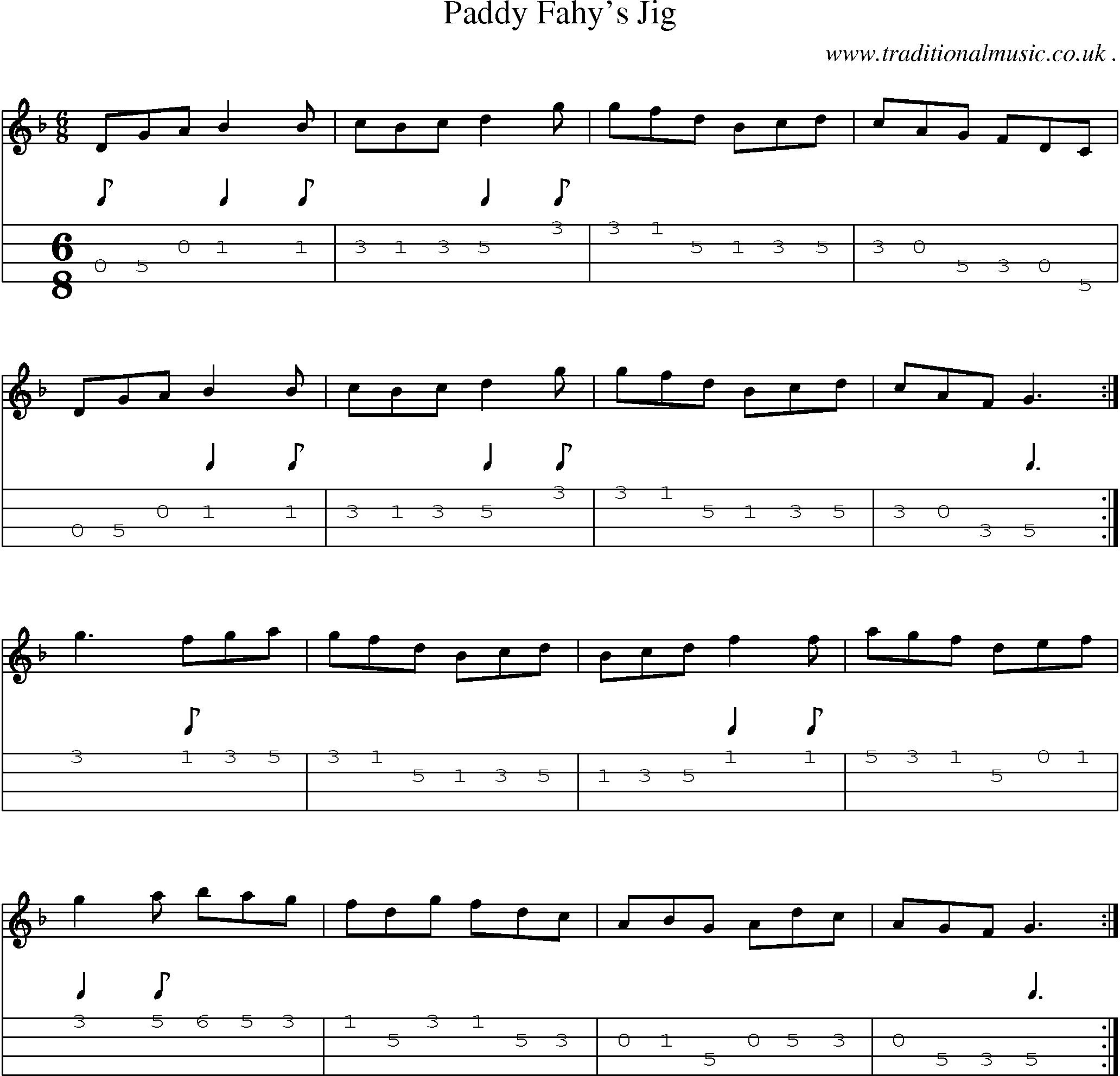 Paddy fahys jig fiddle music pinterest mandolin folk folk and traditional music sheet music mandolin tabs audio and pdf for paddy fahys jig hexwebz Images