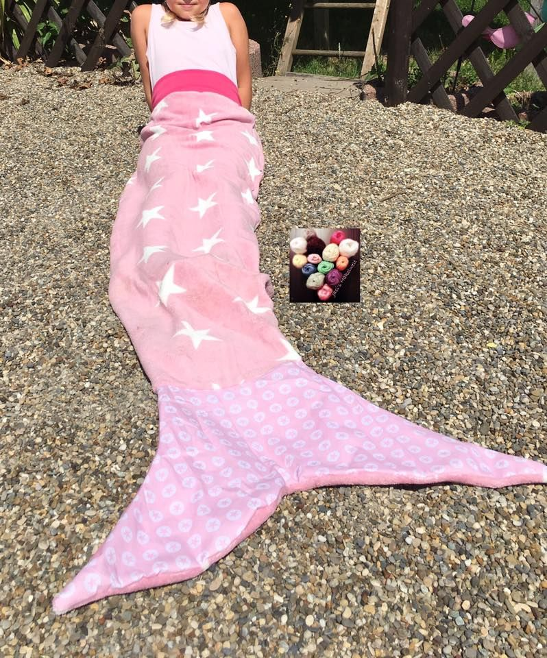 Meerjungfrauen-Decke, Meerjungfrau, Nähanleitung | Schwanzflosse ...