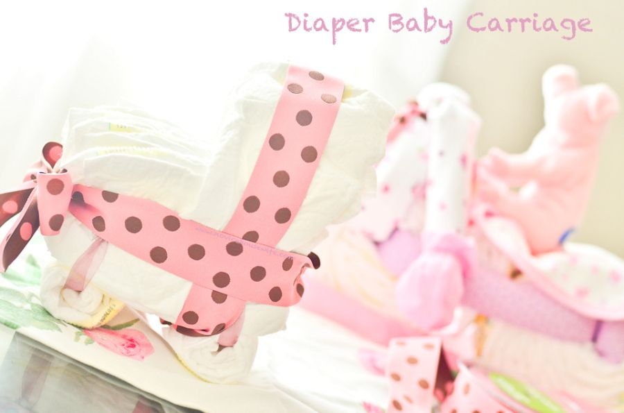 DIY craft: Diaper Motorcycle & Diaper Baby Carriage - The Novice Housewife