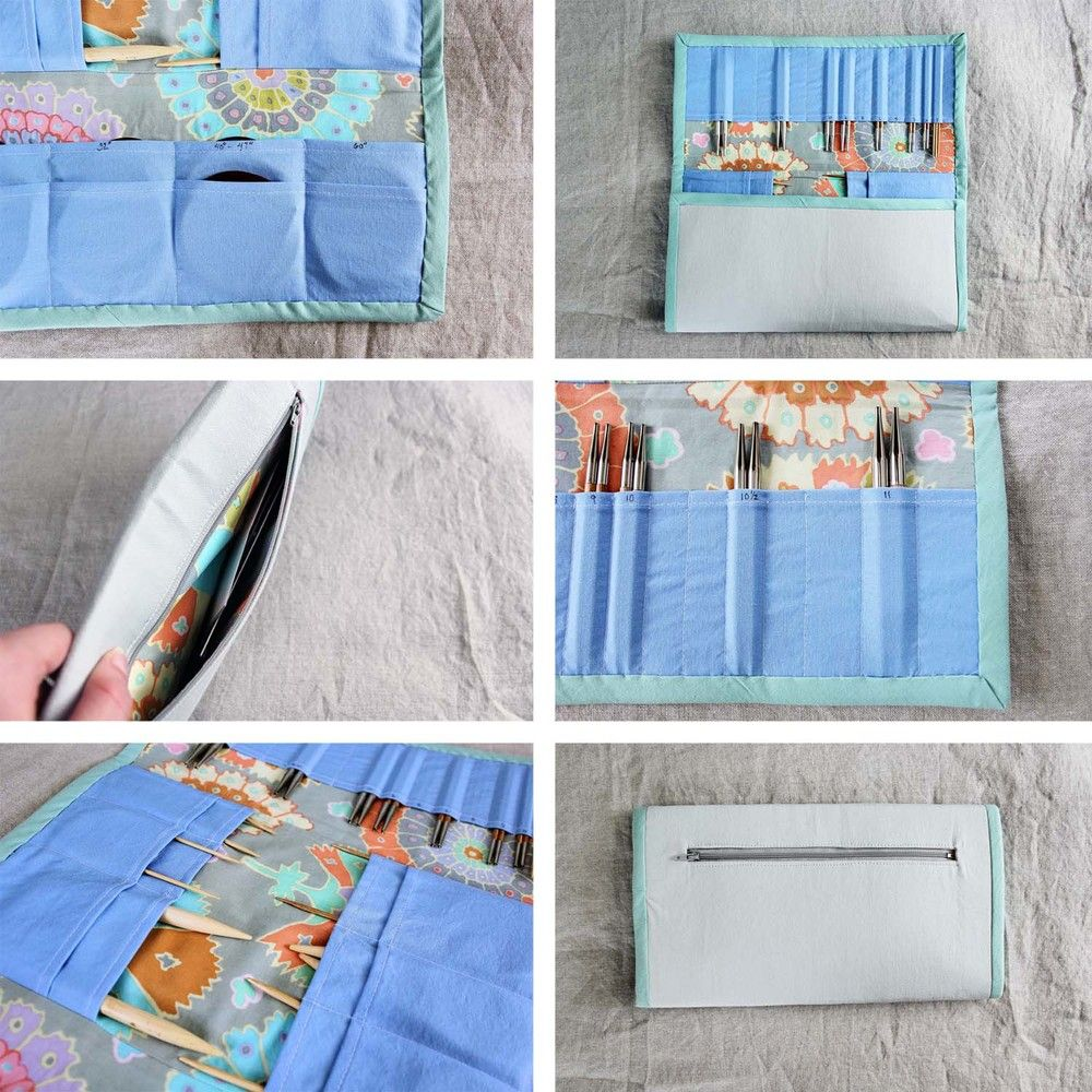 Deluxe Tri-Fold Interchangeable Knitting Needle Case Tutorial ...