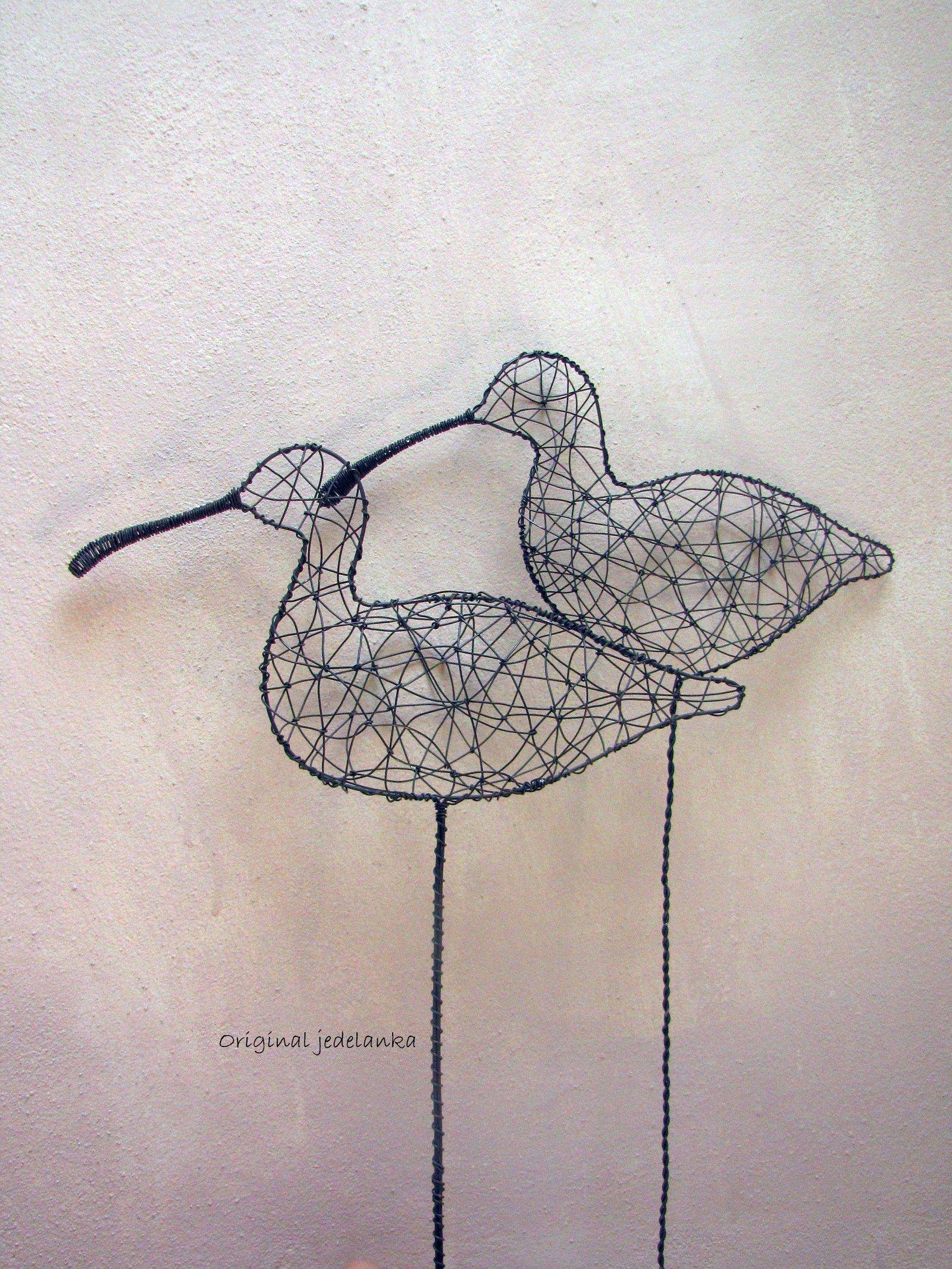 Racek.... drátovaný   Zobrazit...   Wire sculpture   Pinterest ...