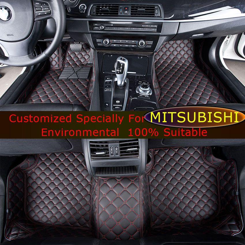 Car Floor Mats For Mitsubishi Pajero Sport V73 V93 Asx Lancer Ex Outlander Ex Galant Grandis Car Foot Mats Custom Carpe Car Floor Mats Custom Carpet Car Carpet