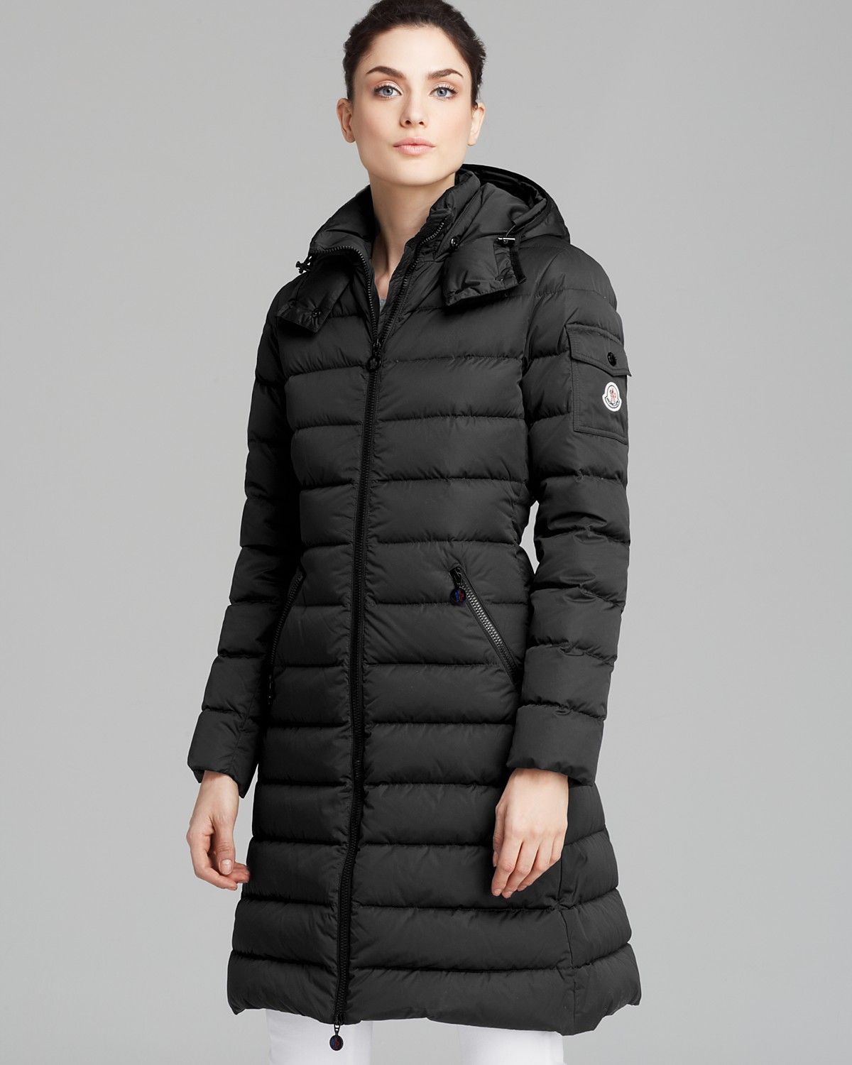 Moncler Coat Mokamat Midlength Down Leather jackets