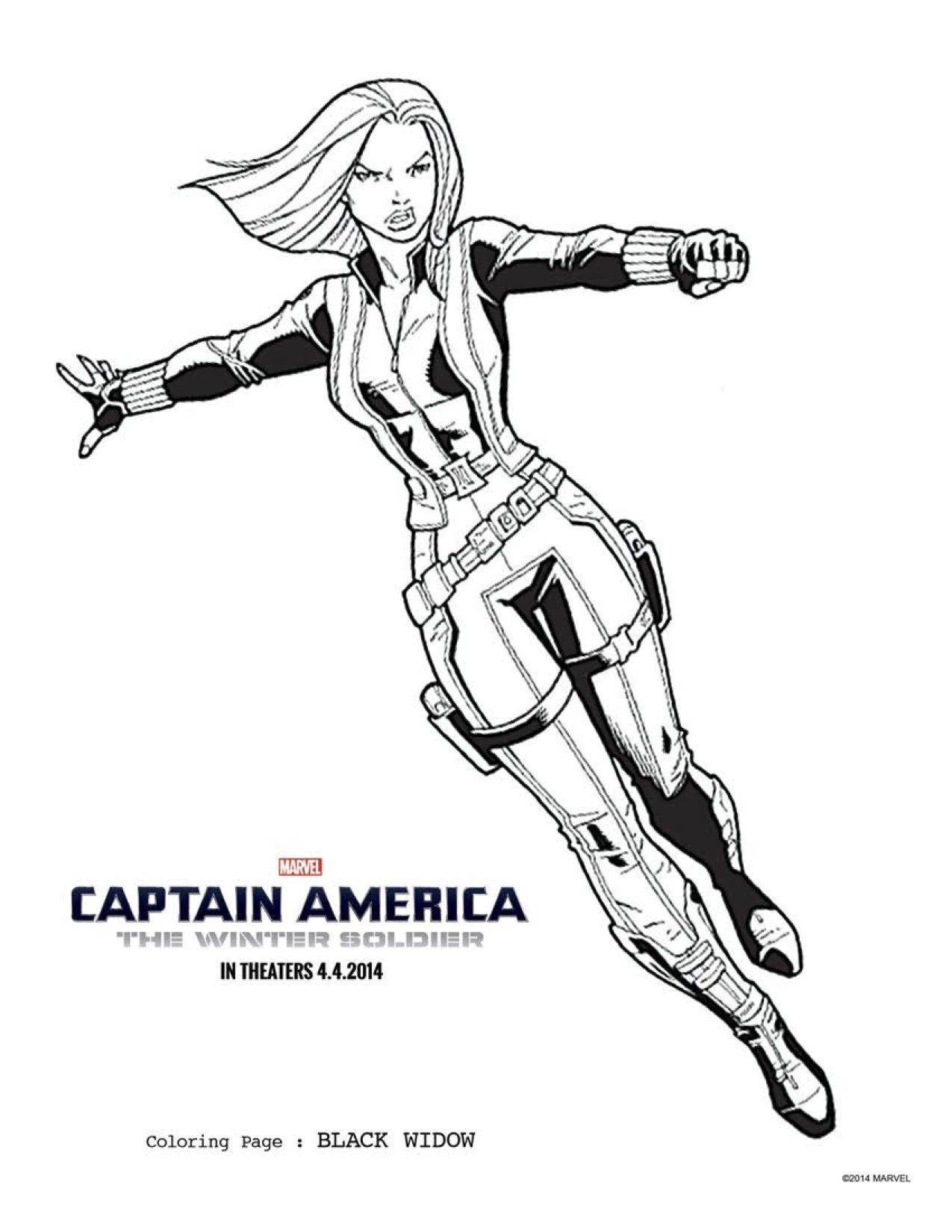 2 CAPTAIN AMERICA THE WINTER SOLDIER coloring sheets to keep