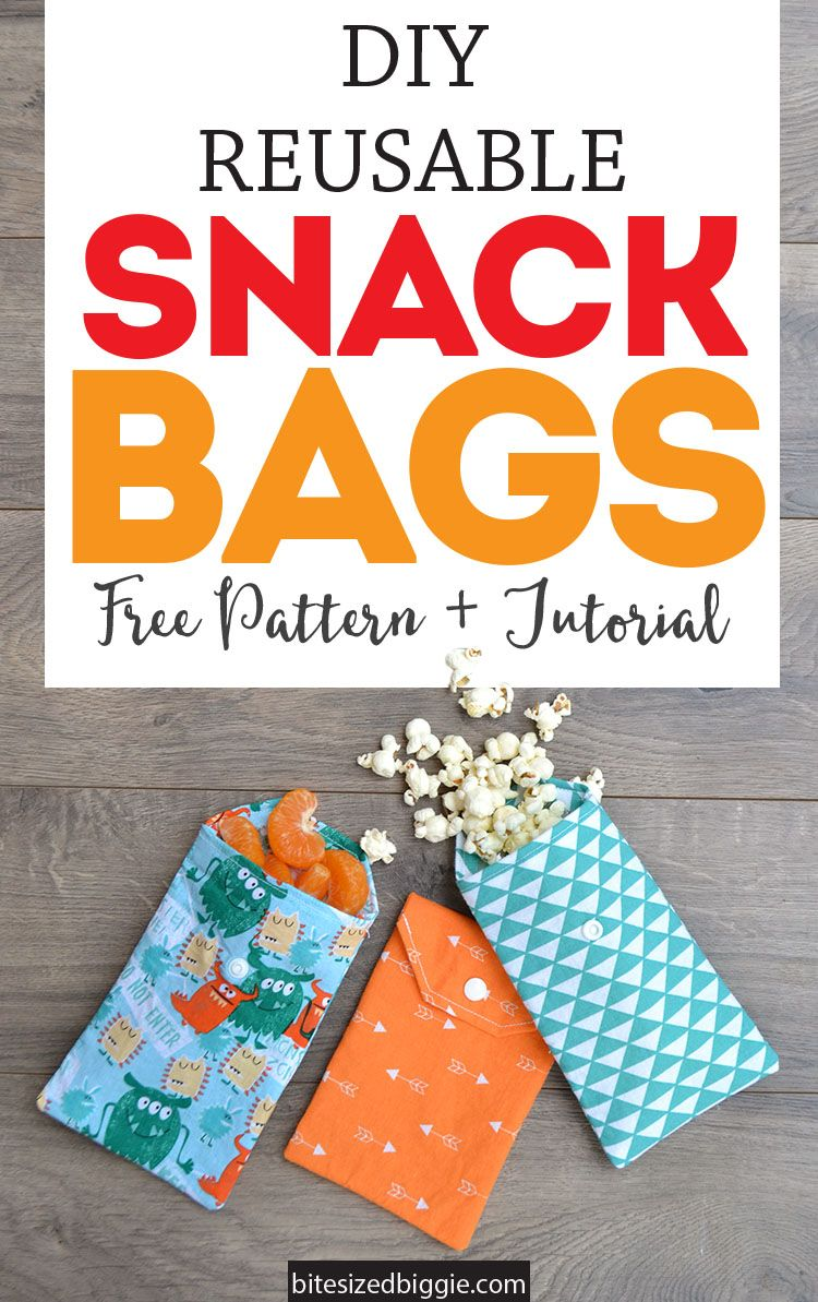 Simple Diy Reusable Fabric Snack Bags Sew Snack Bags Fabric
