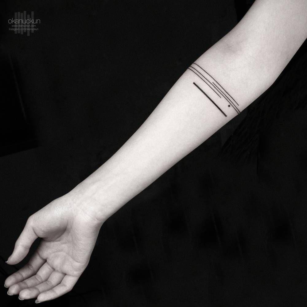 Minimalist armband tattoo. | Minimalist Tattoos | Pinterest ... - Armreif Tattoo