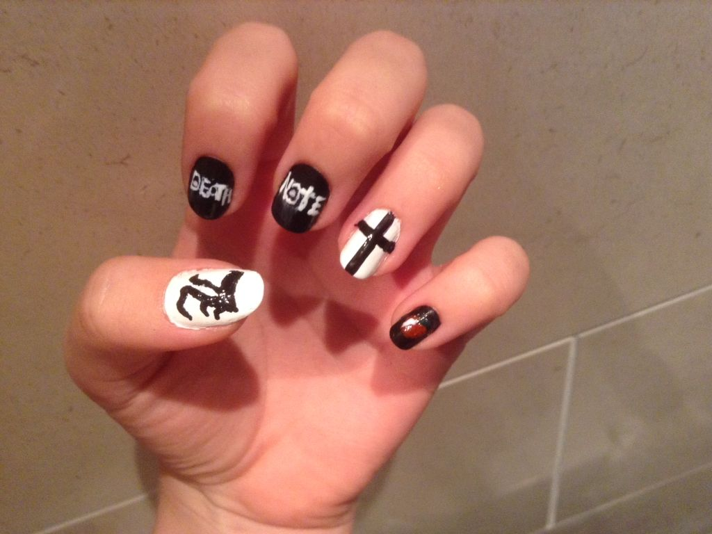 Death note nails | Makeup ❤ | Pinterest | Death note