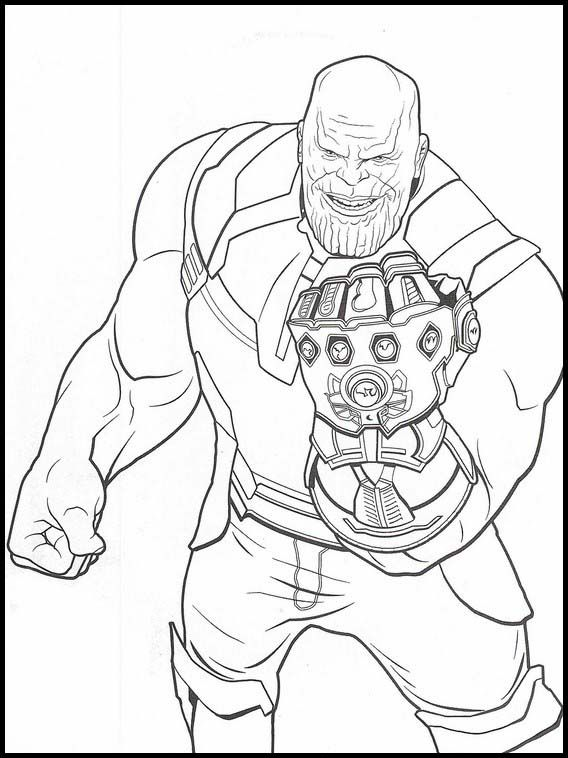 Avengers: Endgame 32 Printable coloring pages for kids in ...
