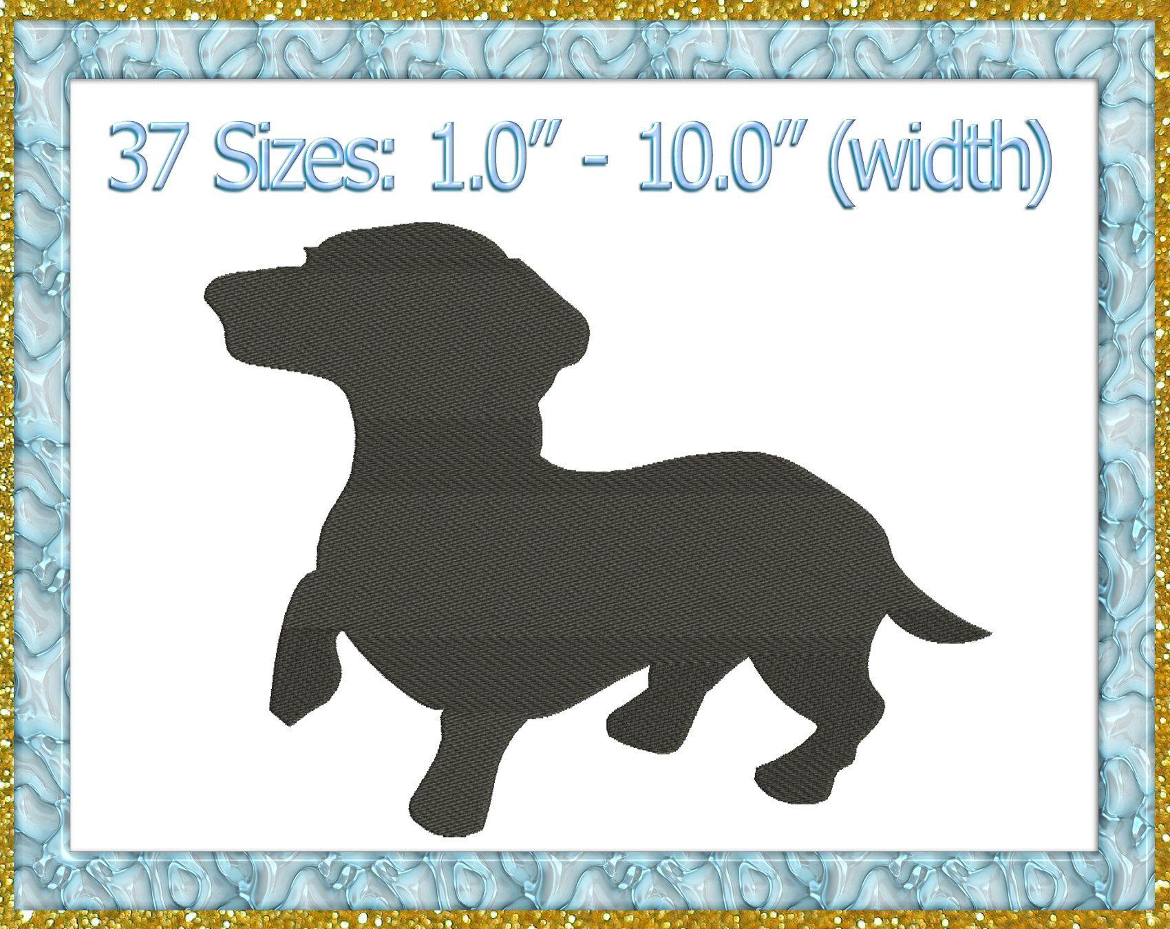 Dachshund Embroidery Design Dachshund Machine Embroidery Design Dog Dachshund Silhouette Embroidery Design Pet Embroidery Design Pets Pes 84 Animal Embroidery Designs Embroidery Designs Machine Embroidery Designs