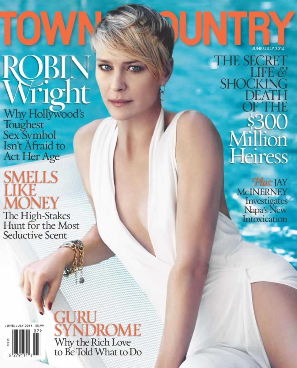 Robin Wright is the June/July cover gal for Town & COuntry