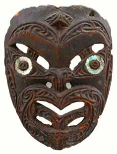 tribal face masks | Carved face in wood with haliotis shell, Maori peoples, Aotearoa, 19th ...