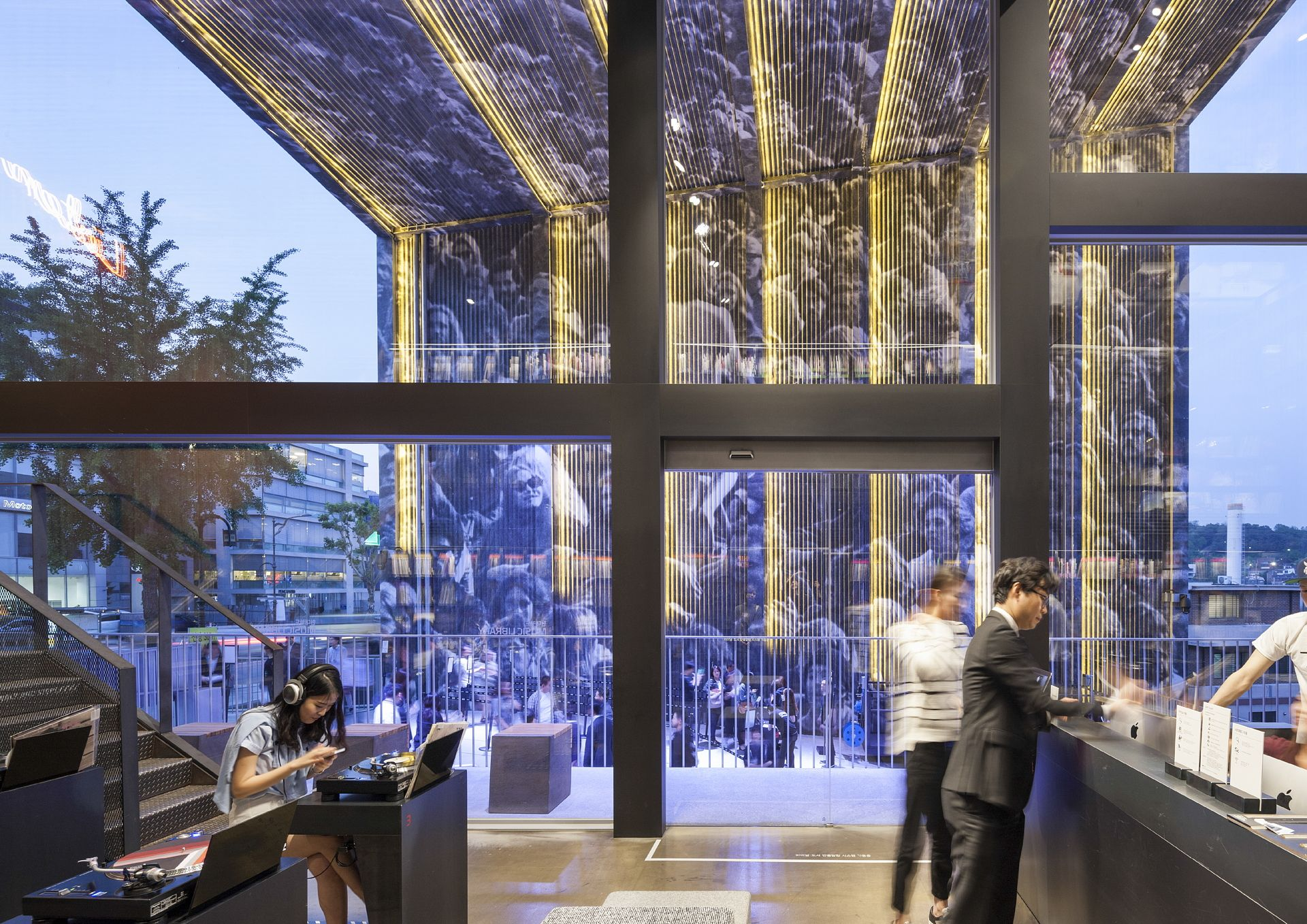 Moongyu Choi Ga A Architects H Music Library In Seoul Floornature Architect Music Library Architecture Project