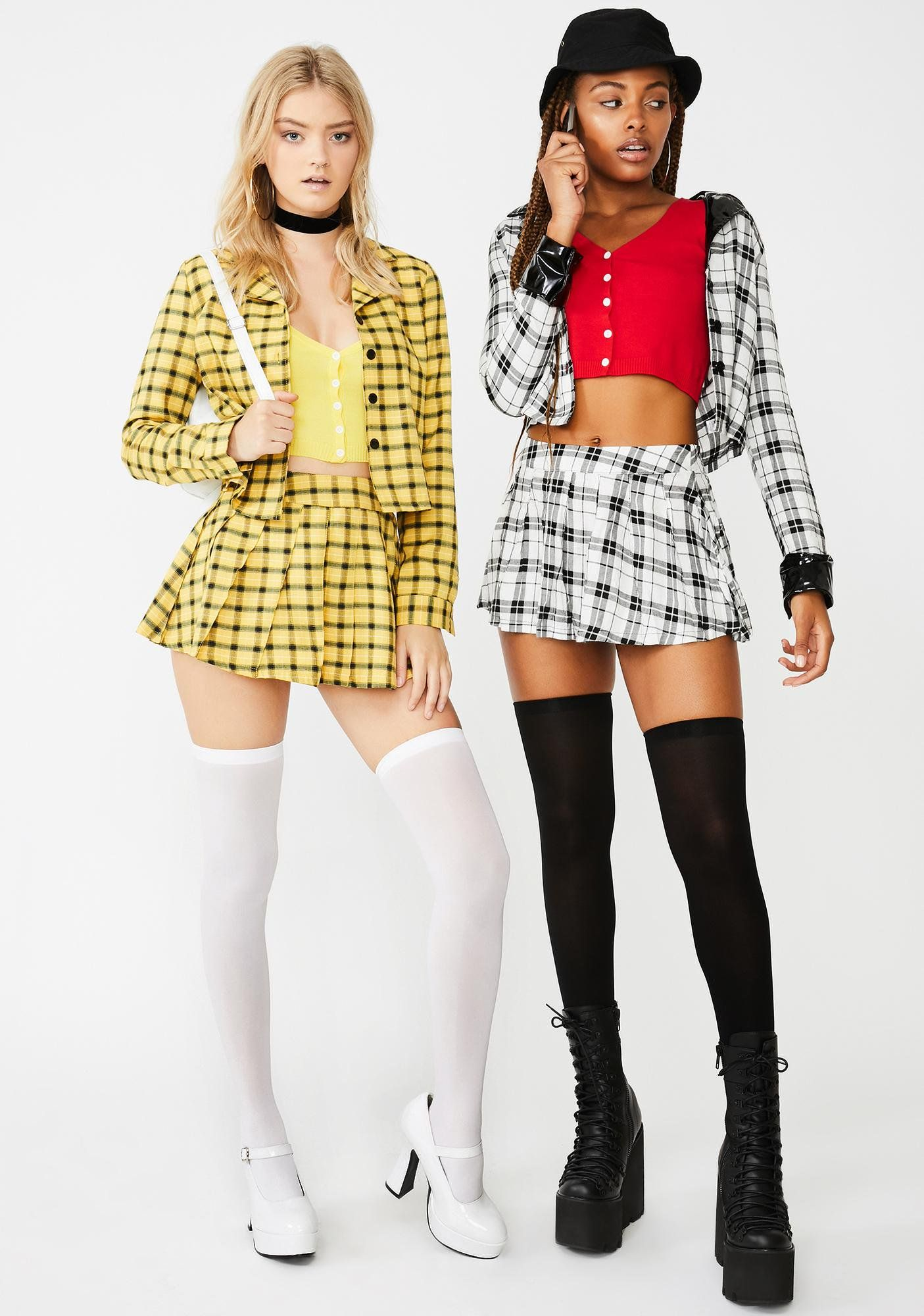 Yellow Clueless Cher Plaid Costume Set Dolls Kill Clueless Halloween Costume Clueless Costume Halloween Outfits