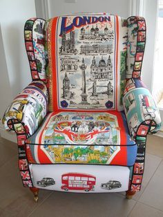 tea towel chair ~ made completely from tea towels ~ funky <3 ~