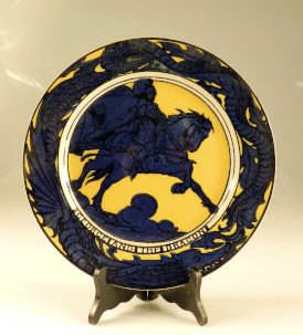 """George and the Dragon"" plate, #D5108, 10 inches diameter"
