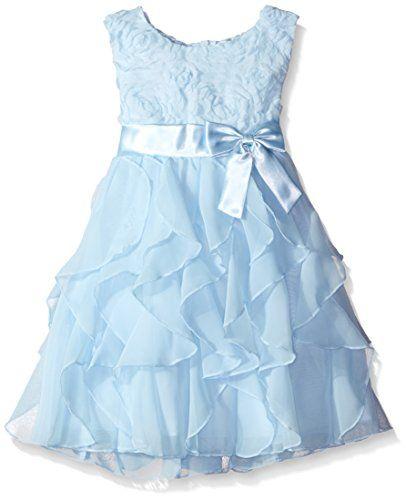 American Princess Girls' Soutache Corkscrew Dress, Ice Bl... http ...