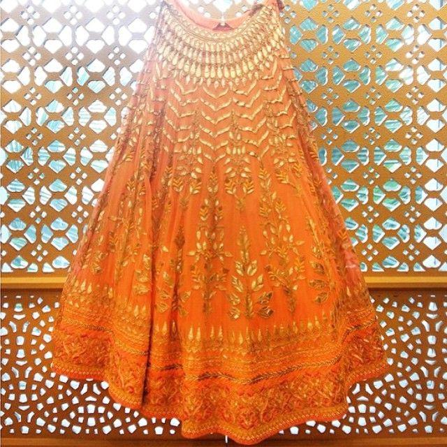 e123b83e166b8 Gorgeous gota patti work by the amazing Indian fashion designer Anita  Dongre Shaadi Glam @shaadiglam Instagram photos