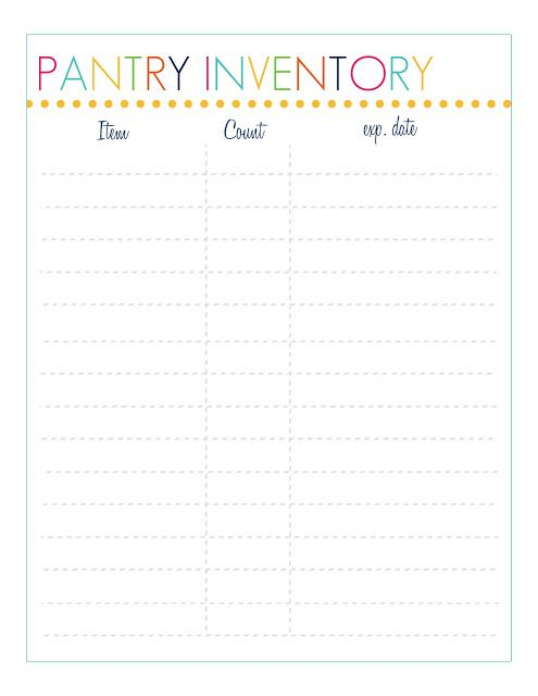 FREE Pantry Inventory Printable Home Manage Binder {free - home inventory template