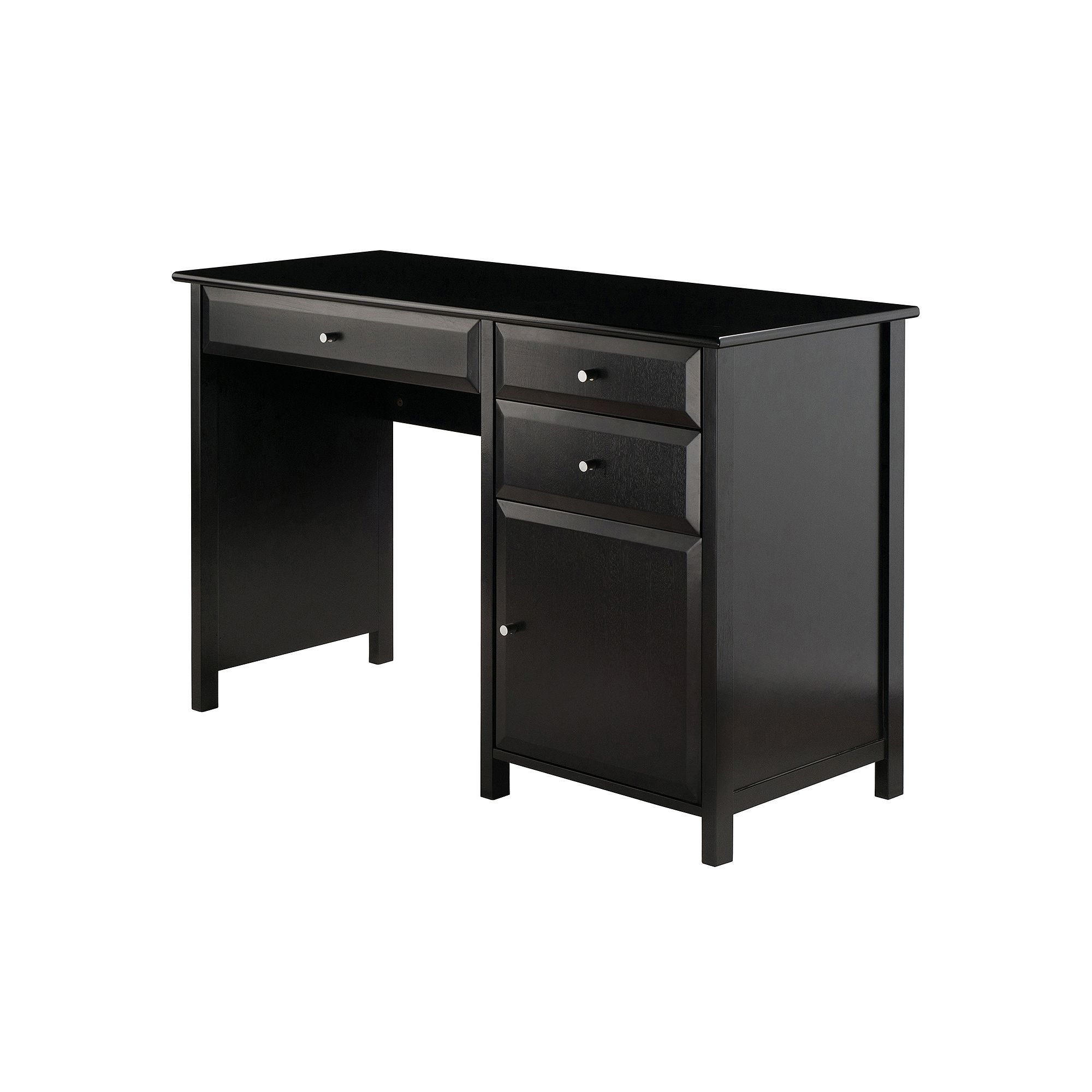 Winsome Delta Office Writing Desk In 2020 Black Writing Desk Black Desk Writing Desk